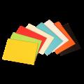 Цветные конверты С6 с прямым клапаном 114х162 мм