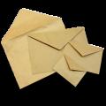 Крафт конверты с треугольным клапаном