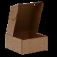 Коробка самосборная без окна, бурая