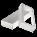 Коробки крышка дно, с окном, белые
