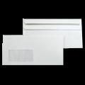 Белые почтовые конверты с прямым клапаном и окном