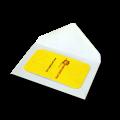 Белые конверты под визитку
