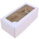Коробка самосборная с окном, белая