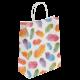 Подарочные крафт пакеты с различными вариантами дизайна