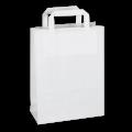 Белый крафт-пакет с плоскими ручками