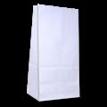 Пакеты белые с прямоугольным дном