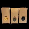 Ламинированные крафт пакеты с окном и прямоугольным дном