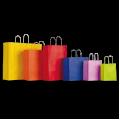 Цветные крафт пакеты с кручеными ручками