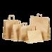 Бумажные крафт пакеты с плоскими ручками