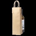 Крафт пакет с ручками под бутылку