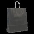Черный крафт пакет с кручеными ручками