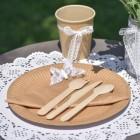 Одноразовые тарелки и супницы