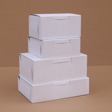 Коробочки белые самосборные