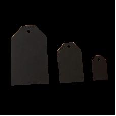Бирки черные из картона