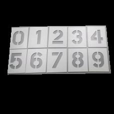 Трафареты цифр