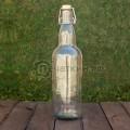 Стеклянная бутылка с бугельным замком емкостью 1 литр