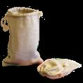 Льняные мешочки с завязками