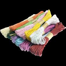 Шпагат бумажный цветной по 30 метров