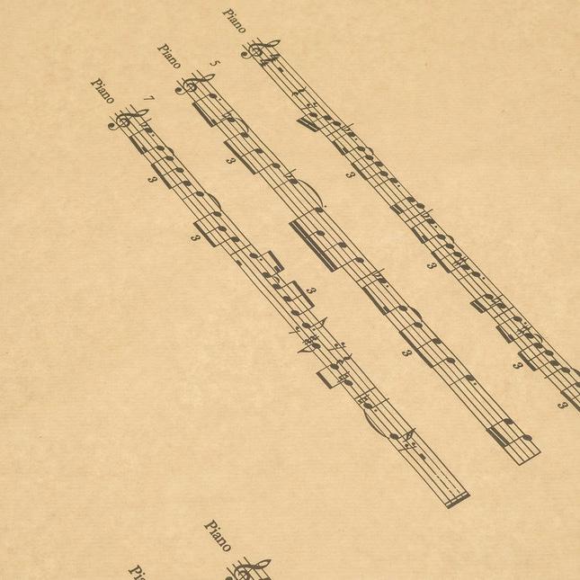 Крафт бумага с рисунком