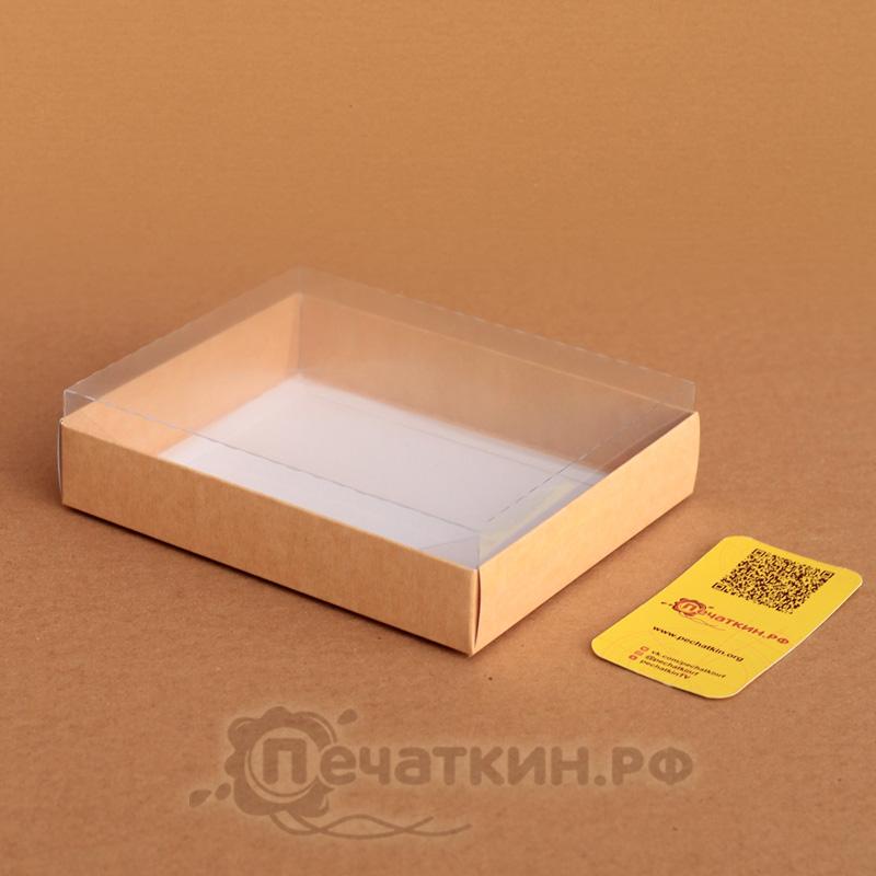 Эко коробочка с прозрачной крышкой
