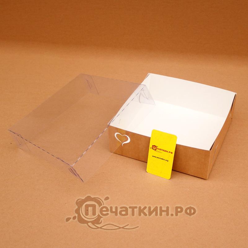 Коробочка с пластиковой крышкой