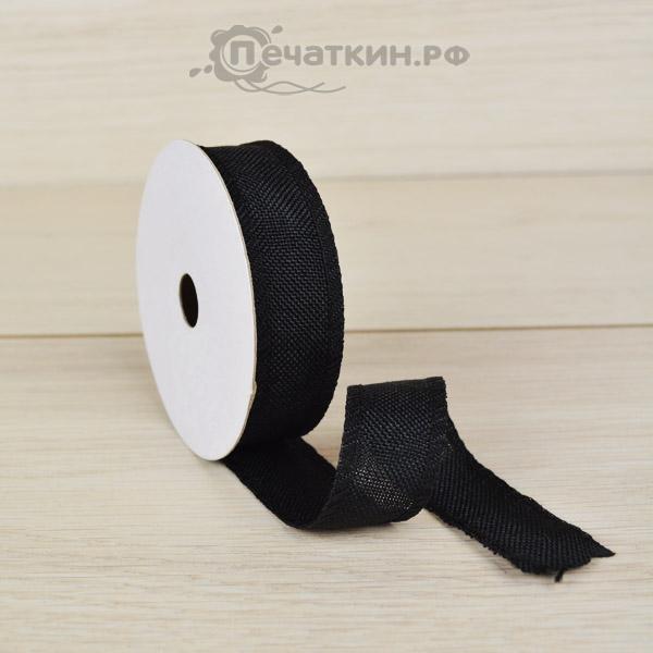 Черная лента для цветов и декора