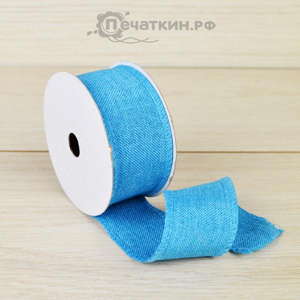 Голубая лента тканевая
