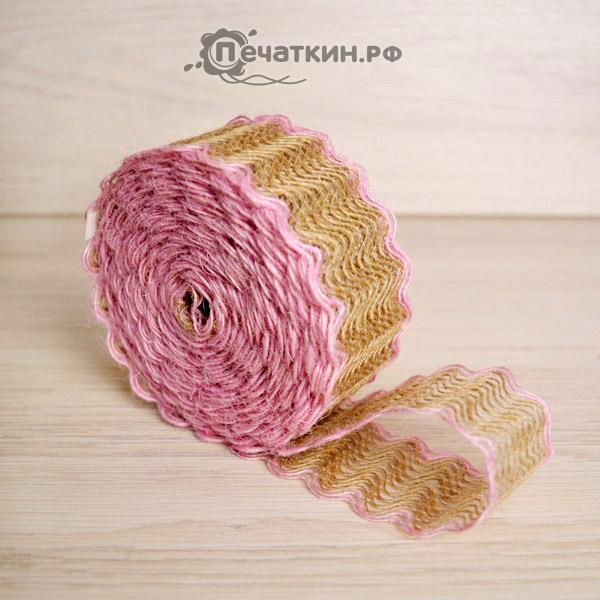 розовая декоративная лента